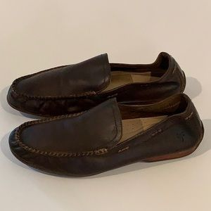 Authentic Frye men's brown leather loafers sz 11